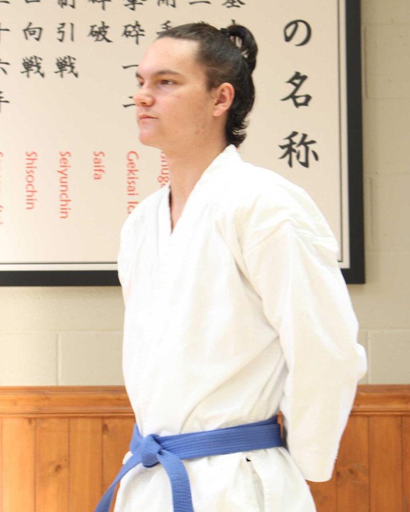 Bastien Charest, assistant - Écoles de karaté Sankudo