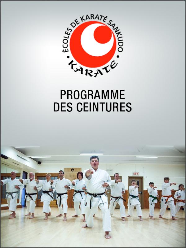 Sankudo - Programme des ceinture